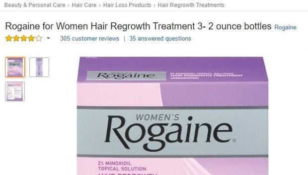 アメリカAmazon.comでの女性用ロゲインのレビュー