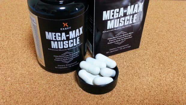 メガマックスマッスル(MEGA-MAX MUSCLE)のボトル・箱・カプセルの写真