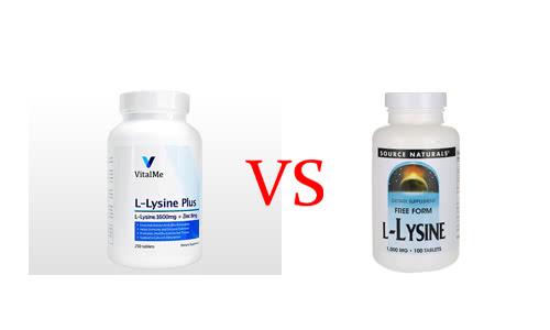 バイタルミー・L-リジンプラスとソースナチュラルズ・L-リジンサプリの比較