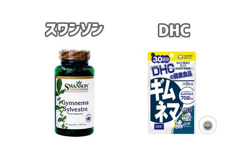 スワンソンとDHCのギムネマサプリメント