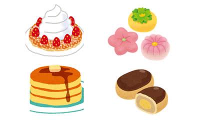 スイーツのイラスト(ケーキ・和菓子)
