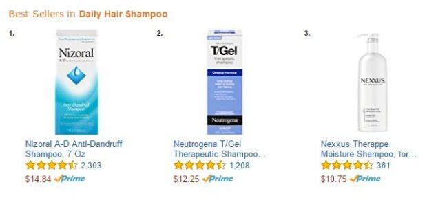 アメリカAmazon.comでニゾラールシャンプー(Nizoral A-D Anti-Dandruff Shampoo)は大人気