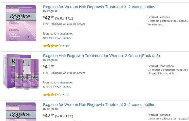 アメリカのAmazonでは女性用ロゲインを購入できるが日本への発送は無理