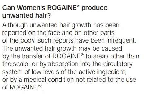 女性用ロゲインには体毛増加の副作用