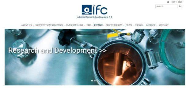ヘリオケアの製造メーカーI.F.Cantabria(カンタブリア)社のHP