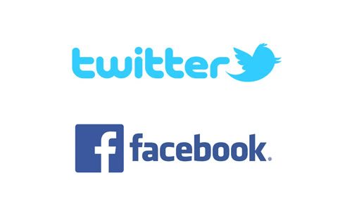 TwitterとFacebookのロゴ