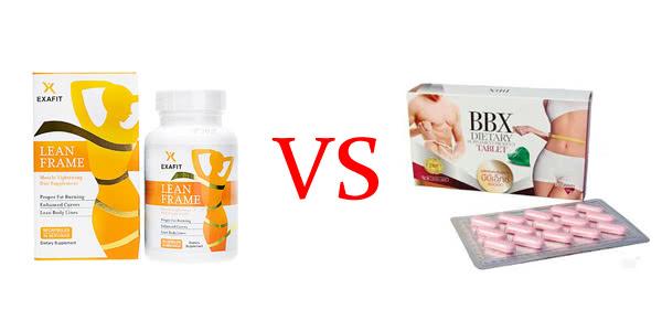 リーンフレームとBBXダイエットサプリメントの違いを比較