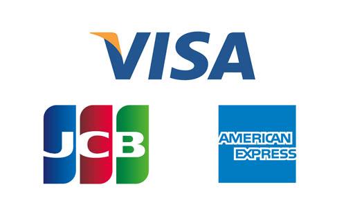 VISA・JCV・AMEXのロゴ