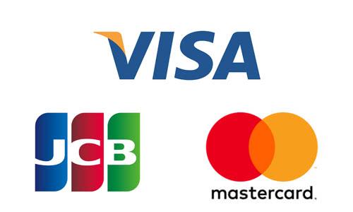 VISA・JCV・マスターカードのロゴ