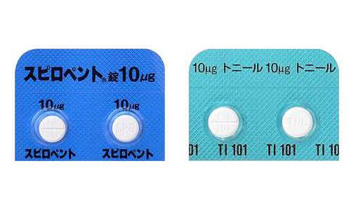 病院処方薬のスピロペント錠とトニール錠(クレンブテロール)