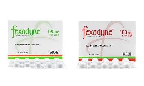 アレグラジェネリック(フェキソフェナジン塩酸塩)のフェクサディン(Fexadyne)120mgと180mg