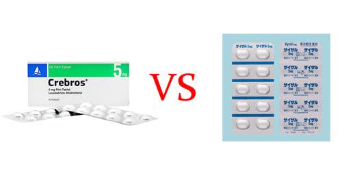 クレブロスとザイザル錠5mgの比較