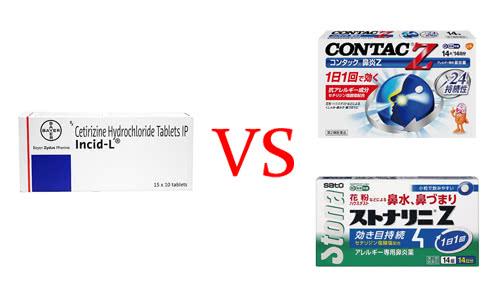 個人輸入ジルテックジェネリックと市販薬の比較