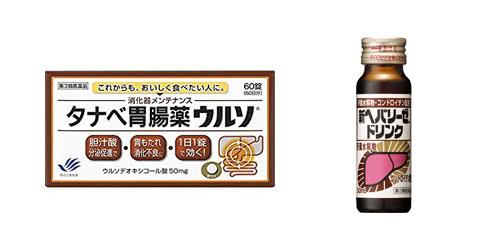 タナベ胃腸薬ウルソとヘパリーゼ