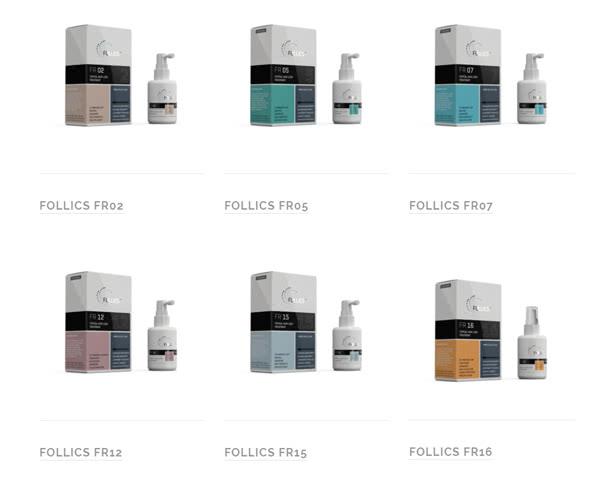 フォリックスの公式サイトに掲載の商品ラインナップ(育毛剤)